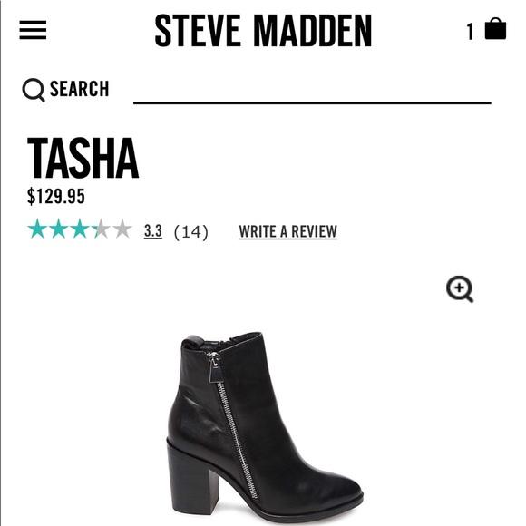 a2a532cba5b Steve Madden Tasha Black Leather Boots